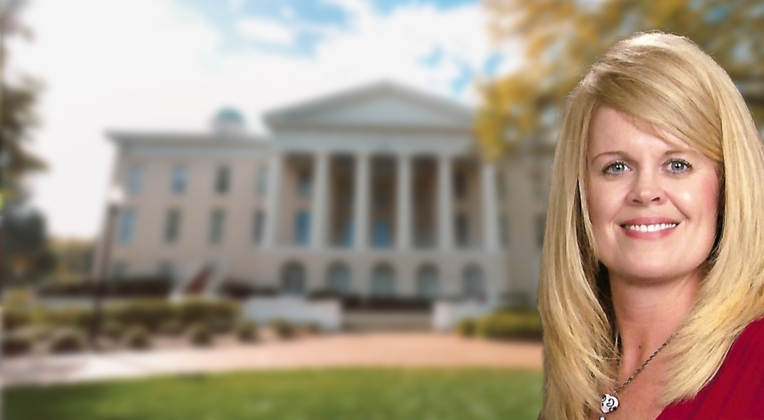 Faith Lamberth with main building background