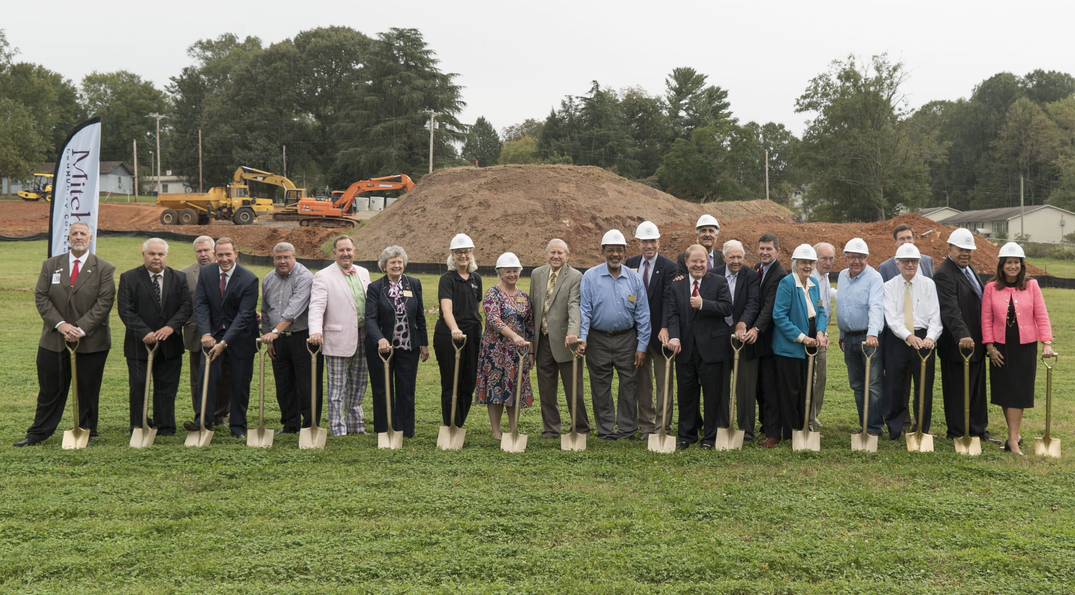 Mitchell Community College administration, employees, dignitaries and friends of the college celebrated the groundbreaking for Mitchell's new Health Sciences Building on Tuesday, October 16.