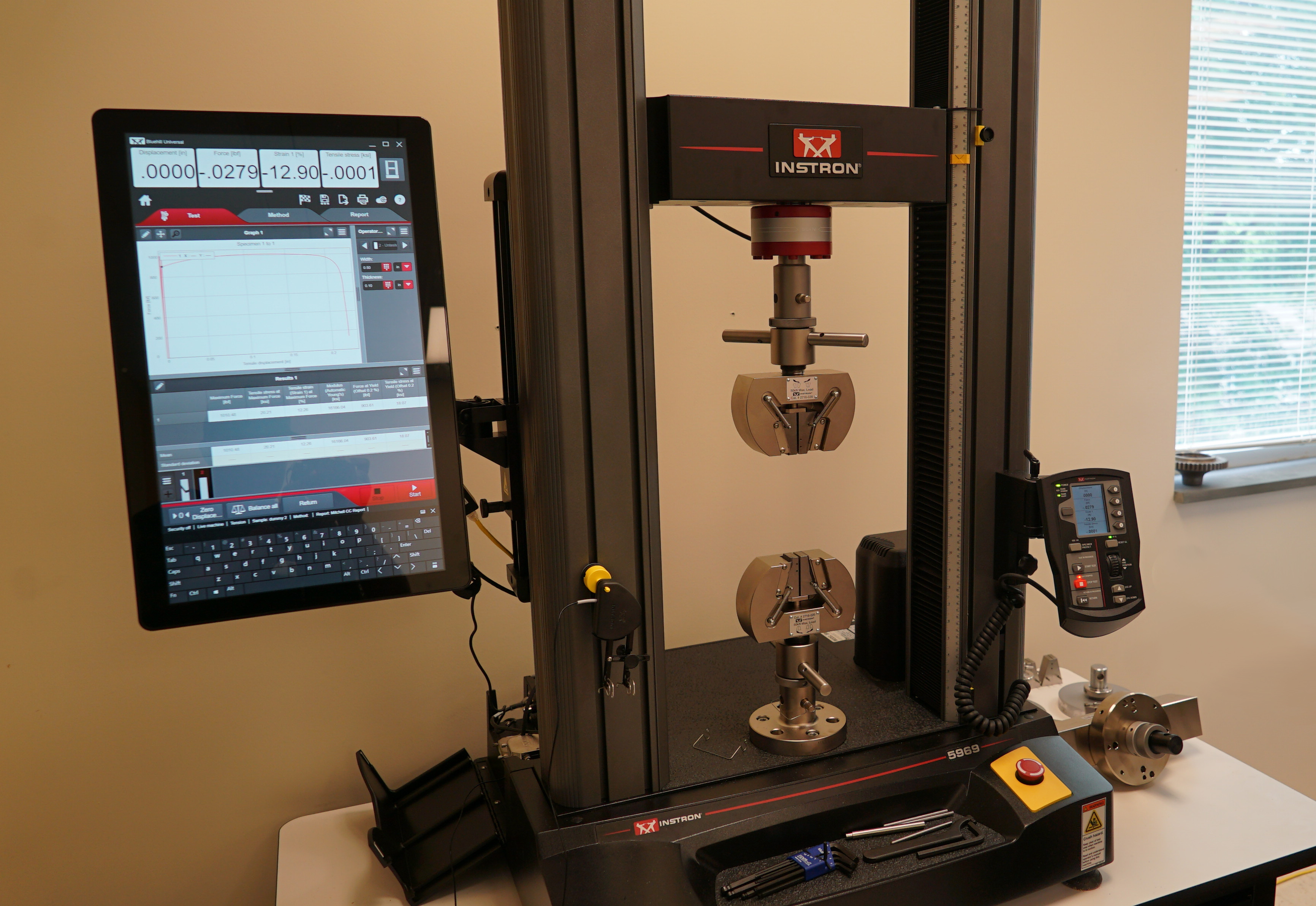 The Instron Universal Testing Machine