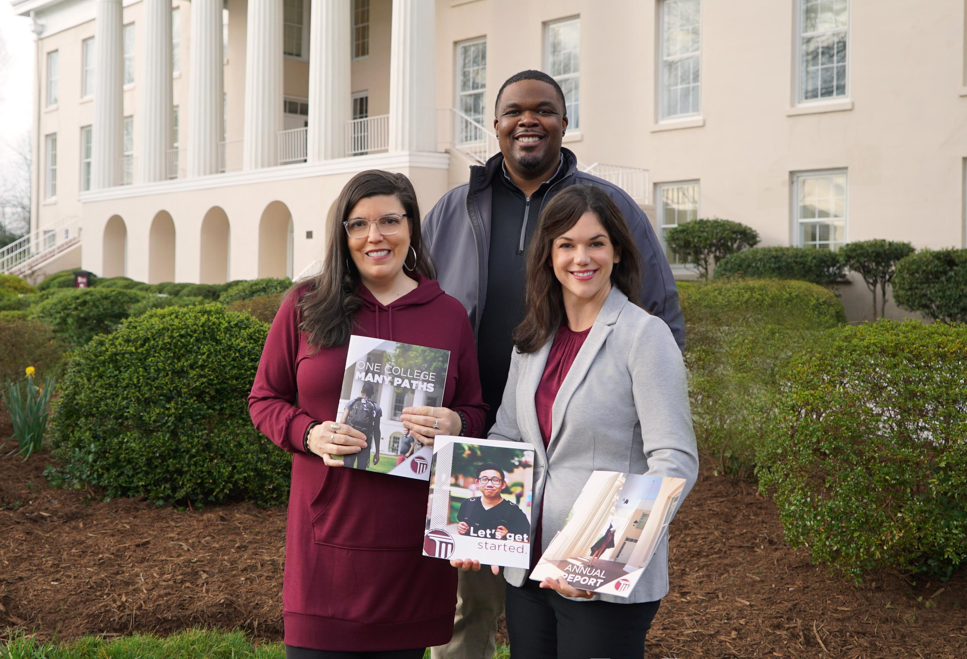 (L-R) Marketing and Communications team members Judy Phillips, Aaron Thompkins and Megan Suber.