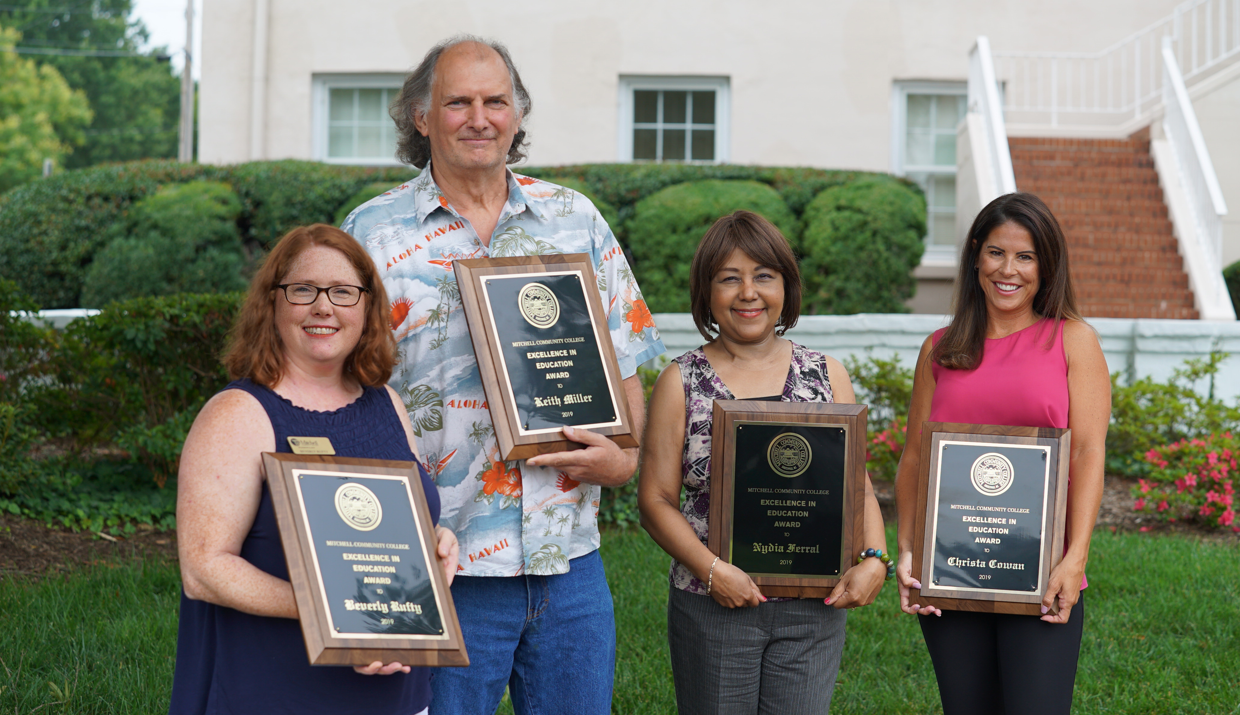 2019 R.D. Grier Excellence in Education award winners (L-R) Beverly Rufty, Keith Miller, Nydia Ferral, Christa Cowan (not pictured: Marcella James).