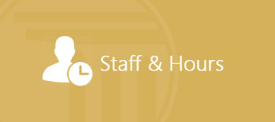 Staff & Hours Information Button