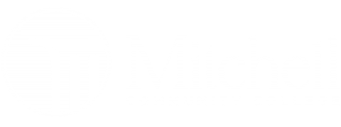 Mitchell Community College White Logo