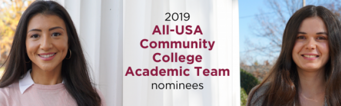 Catherine Bourdon and Cristina Jacobs, Mitchell's 2019 All-USA Community College Academic Team nominees