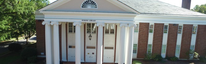 The front entrance of Huskins Library on Mitchell's Statesville Campus