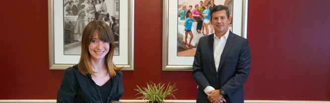 Joleen Ann Beckham poses with Dr. Tim Brewer