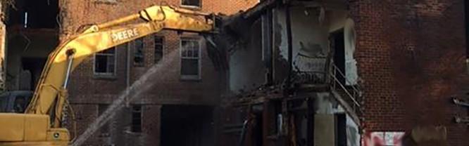 Demolition begins on former Davis Hospital site