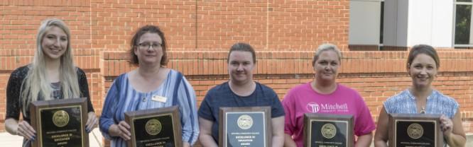 R.D. Grier Award winners (R-L): Molly Nicholson, Eva Eisnaugle, Crystal Dagenhardt, Jessica Harris, Danielle Day