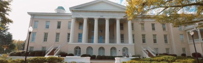 Main Building on Mitchell's historic Statesville Campus