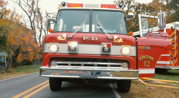 A fire truck at a Mitchell simulation