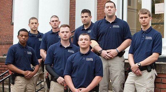 BLET students pose for a photo on Continuing Ed Center steps.