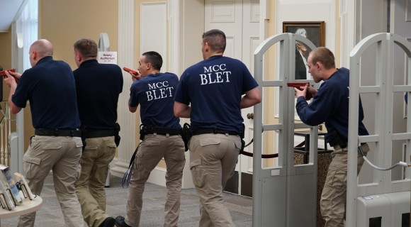 BLET students during a simulation
