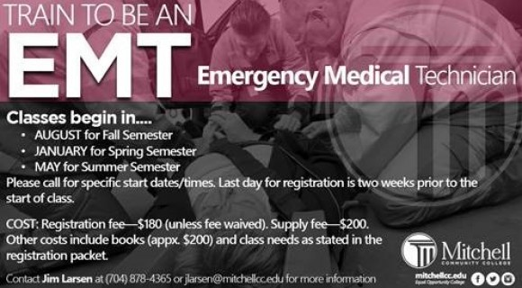EMT | Mitchell Community College, Serving Iredell County