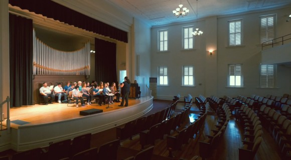 Music students practice in Shearer Hall