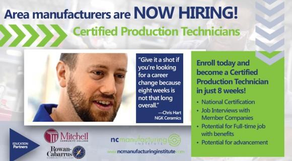 Certified Production Technician|manfacturing job|NCMI
