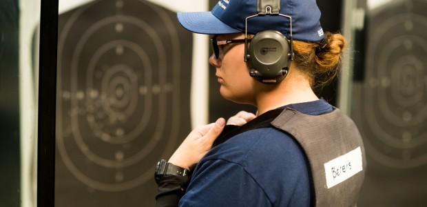 BLET student in firing range