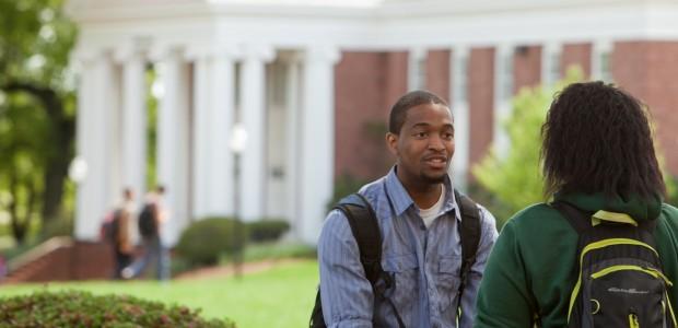 Students talking on Statesville Campus.