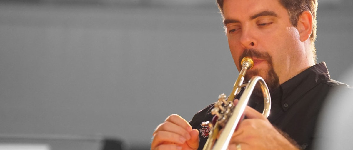 Jazz Band Instructor playing trumpet