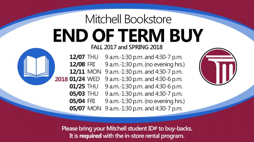Fall and Spring 2018 - Bookstore - End of Term Buy