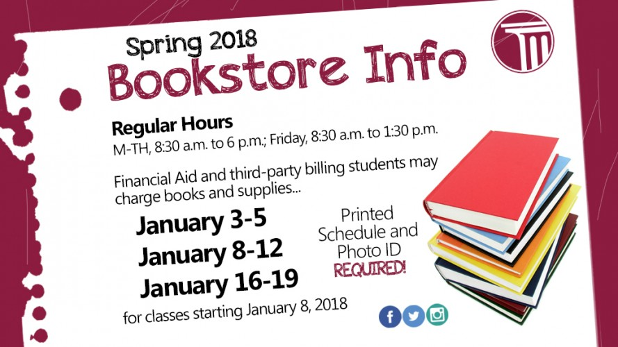 Bookstore Info Spring 2018