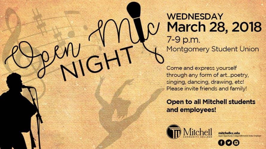 Open Mic Night March 2018